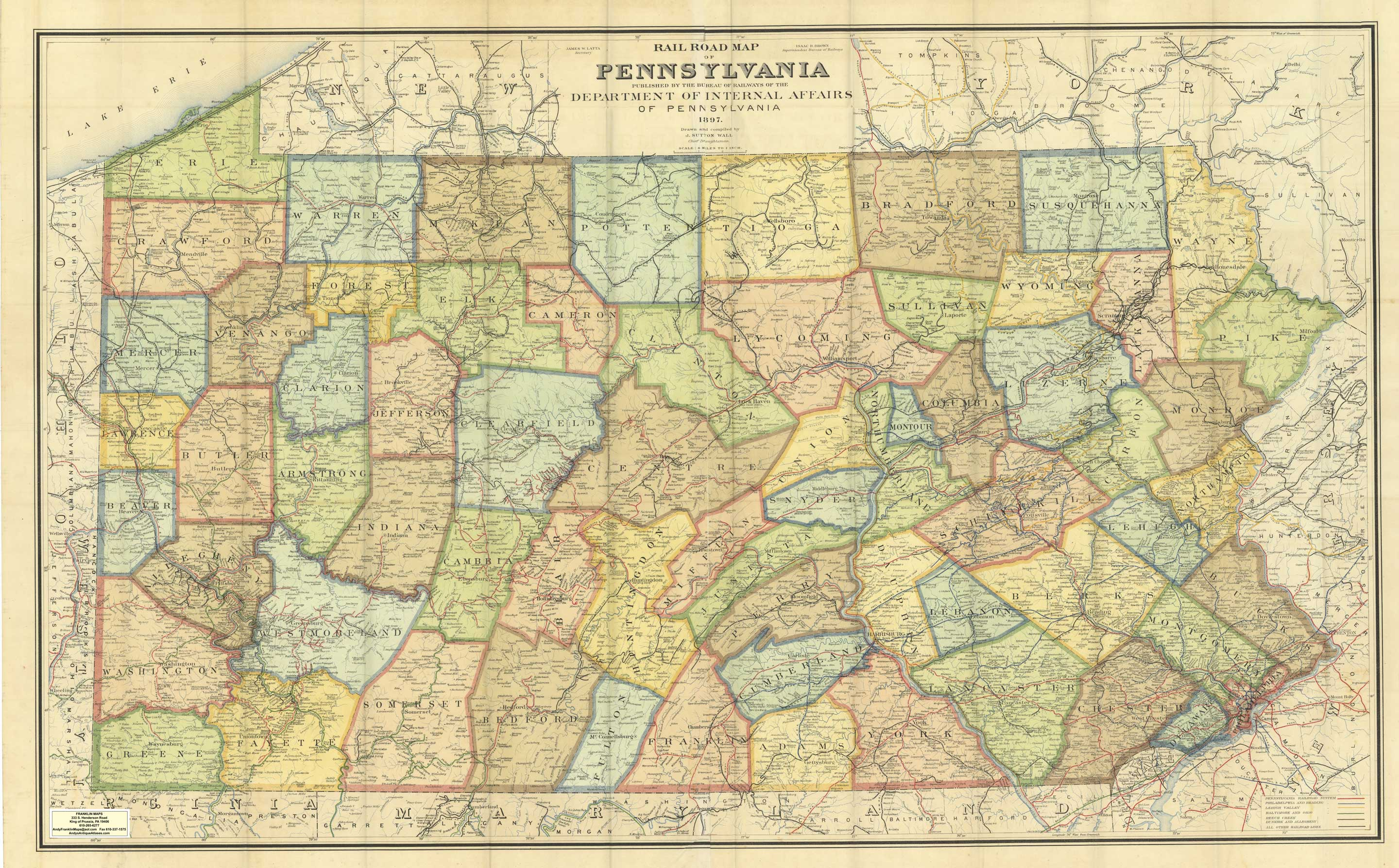Andys Antique Maps Pennsylvania - Map of philadelphia area and suburbs
